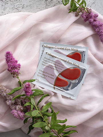 Гидрогелевые патчи для век с коллагеном и экстрактом красного вина Collagen Crystal Eye Mask, 1 пара LANBENA