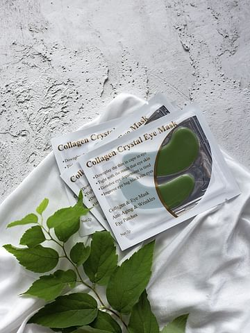 Гидрогелевые патчи для век с коллагеном и экстрактом водорослей Collagen Crystal Eye Mask,1 пара LANBENA