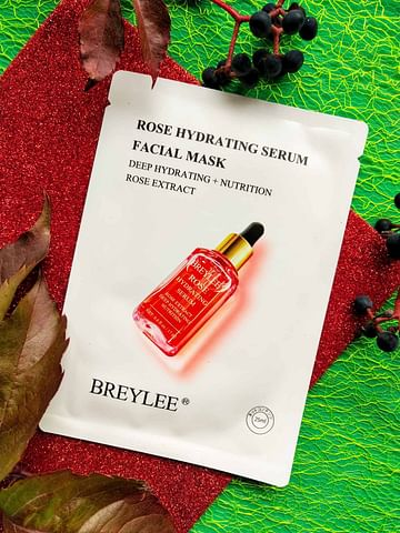 Тканевая маска с экстрактом розы, увлажнение, питание, 25мл BREYLEE