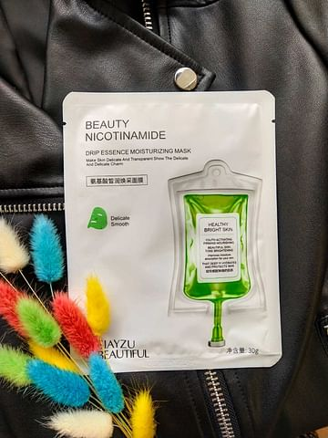 Увлажняющая омолаживающая тканевая маска для лица с никотинамидом и гиалуроновой кислотой SIAYZU RAIOCEU