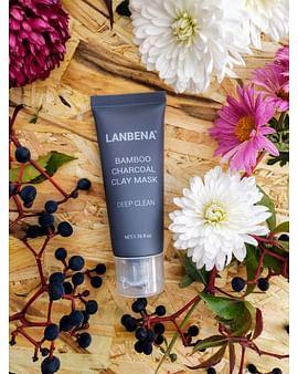 Эффективная маска для лица от черных точек bamboo Charcoal mask,50гр LANBENA