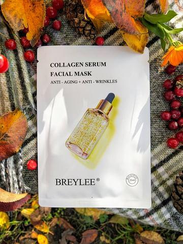 Омолаживающая маска для лица 24K Gold Serum Collagen Essence с золотом и коллагеном, 25 мл BREYLEE
