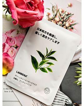Противовоспалительная тканевая маска для лица с экстрактом чайного дерева для проблемной кожи 25 гр LANBENA