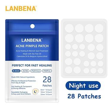 Локальные лечебные ночные патчи для устранения акне и воспалений. LANBENA