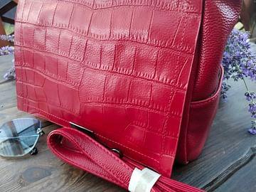Сумка женская из натуральной кожи модель 185 (красный)
