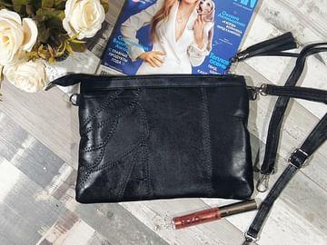 Сумка женская натуральная лоскутная кожа модель 307 D4