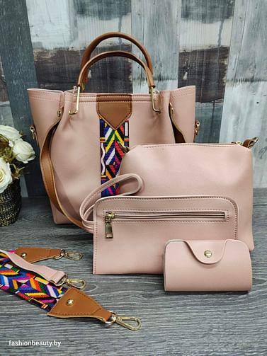 Набор сумок 4 в 1 модель 332 (пудровая роза)