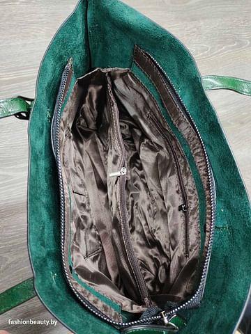 Сумка-шоппер модель 333 (зеленый мох)