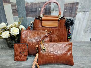 Набор сумок 4 в 1 модель 337 (карамель )