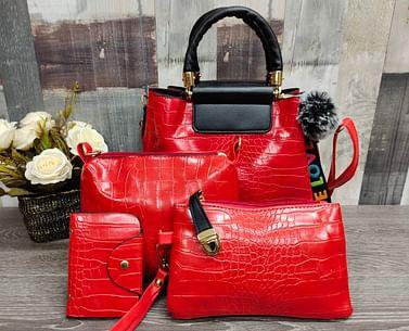 Набор сумок 4 в 1 модель 337 (красный/черный )