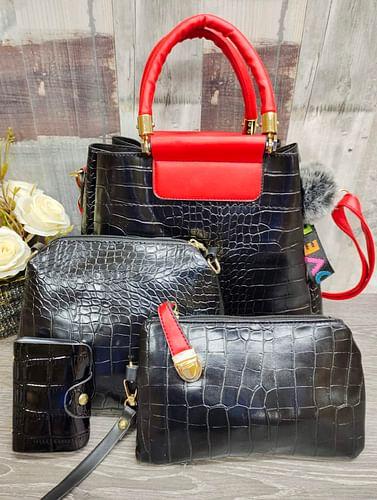 Набор сумок 4 в 1 модель 337 (черный/красный)