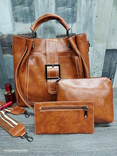 Набор сумок 3 в 1 модель 338 (карамель)