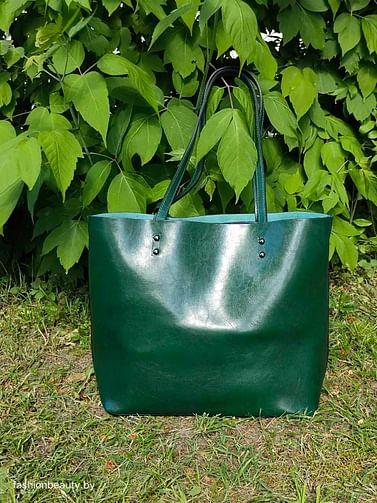 Сумка-шоппер модель 339 (зеленый мох)