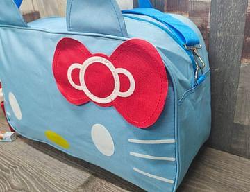 Сумка большая многофункциональная женская Hello Kitty (голубой) модель 351