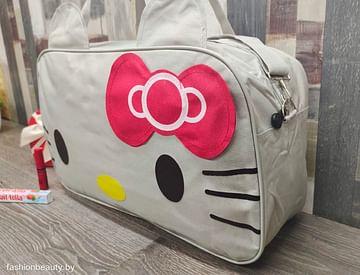 Сумка большая многофункциональная женская Hello Kitty (серый) модель 351
