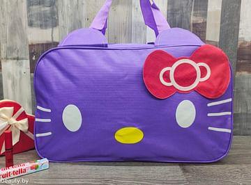 Сумка большая многофункциональная женская Hello Kitty (лиловый) модель 351
