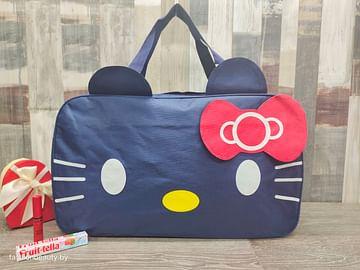Сумка большая многофункциональная женская Hello Kitty (глубокий синий) модель 351