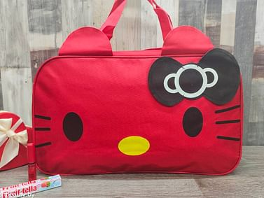 Сумка большая многофункциональная женская Hello Kitty (красный) модель 351