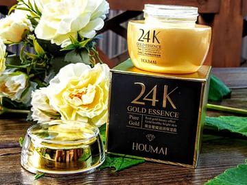 Питательный крем для лица 24К, с гиалуроновой кислотой и золотом, глубокое восстановление, 50 мл HOUMAI