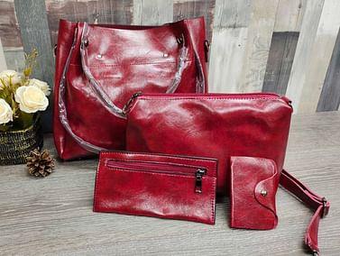 Набор сумок 4 в 1 модель 357 (бордо)