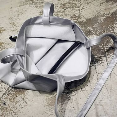 Сумка-шоппер модель 359 (серебро металлик)