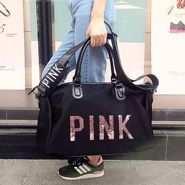 Сумка большая многофункциональная женская PINK (черный) модель 360