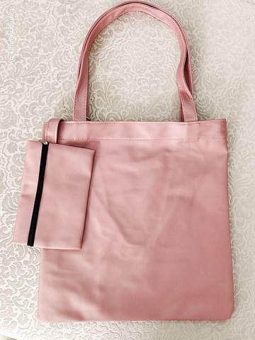 Сумка-шоппер модель 359 (розовый металлик)