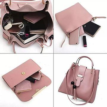 Набор сумок 3-в-1 модель 368 (пудра)