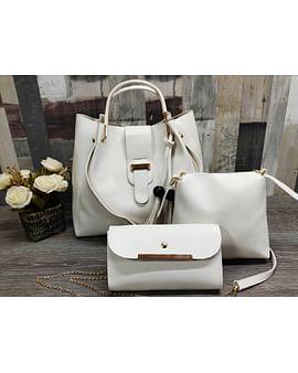 Набор сумок 3-в-1 модель 368 (белый)