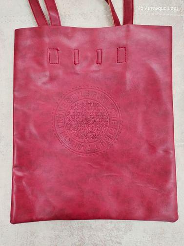Сумка-шоппер модель 376 (бордовый)