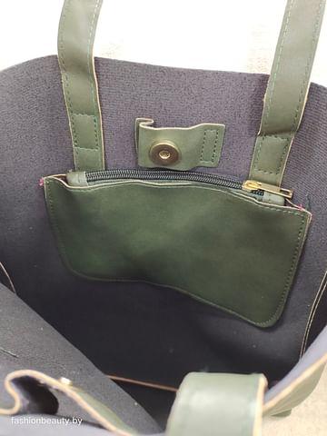 Сумка-шоппер модель 376 (глубокий зеленый)