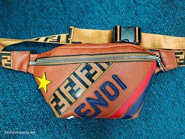 Сумка поясная Fendi модель 378 (карамель)