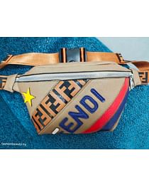 Сумка поясная Fendi модель 378 (бежевый)