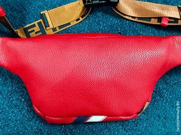 Сумка поясная Fendi модель 378 (красный)