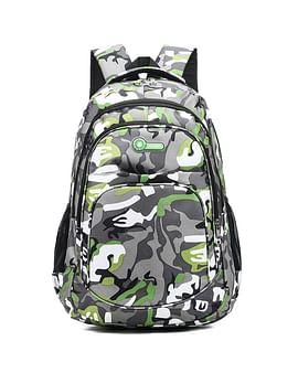 Рюкзак городской в стиле милитари модель 387(серый/зеленый)