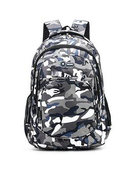Рюкзак городской в стиле милитари модель 387(серый/синий)