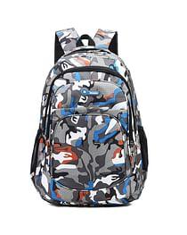 Рюкзак городской в стиле милитари модель 387(серый/голубой)