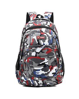 Рюкзак городской в стиле милитари модель 387(серый/красный)