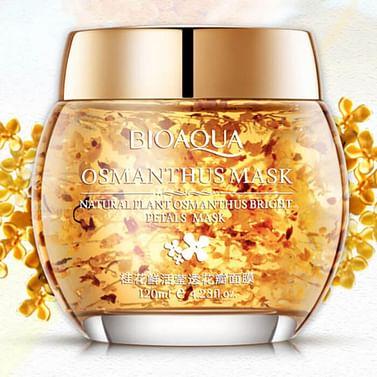 Гелевая маска для лица с лепестками золотого османтуса Osmanthus Bright Petals Mask (120г) универсальная Bioaqua
