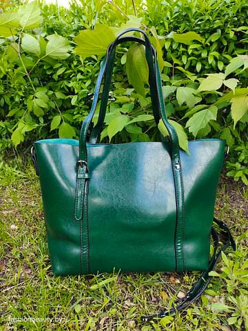 Сумка-шоппер модель 392 (зеленый мох)