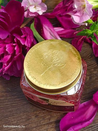 Несмываемая ночная маска Natural Flower Petal Facial Sleep Mask с экстрактом лепестков махровой розы280g Bioaqua