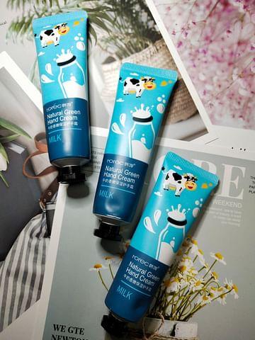 Защитный крем для рук Молочный Milk Natural Green Hand Cream, 30ml Rorec
