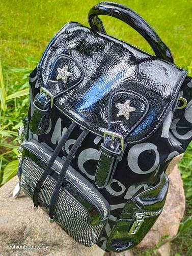 Рюкзак из натуральной кожи модель 398 (черный)