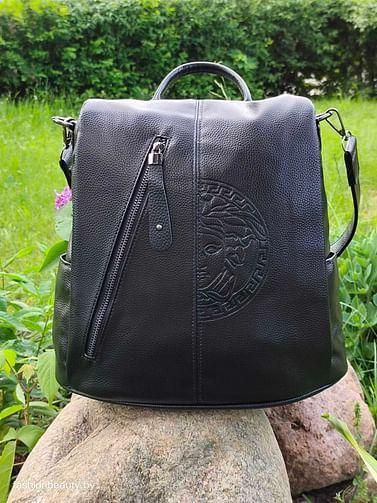 Рюкзак-трансформер из натуральной кожи модель 401 (черный)