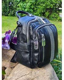 Рюкзак-трансформер из натуральной кожи модель 403 (черный)