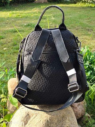 Рюкзак-трансформер из натуральной кожи модель 404 (черный)