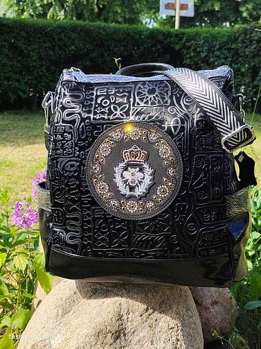 Рюкзак-трансформер из натуральной кожи модель 405 (черный)
