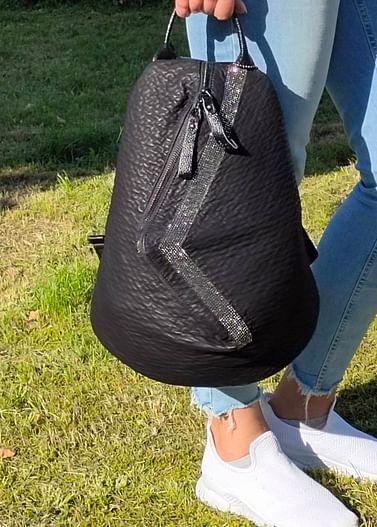 Рюкзак из натуральной кожи модель 406 (черный)