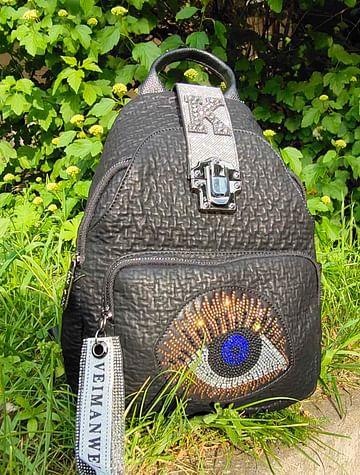 Рюкзак из натуральной кожи модель 407 (черный)