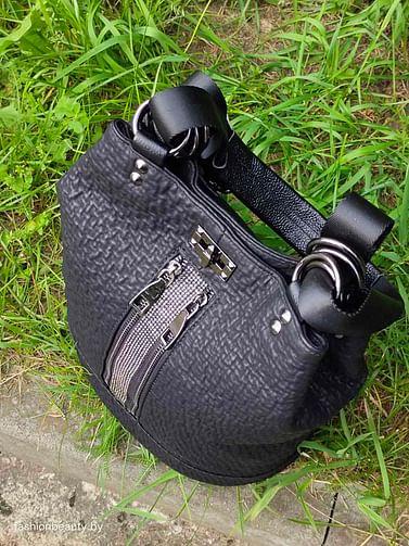 Рюкзак-трансформер из натуральной кожи модель 408 (черный)